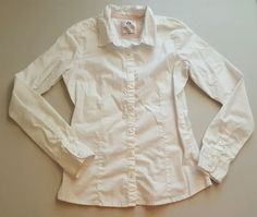 Girls Old Navy Uniform White Button Down Top Size Large Cotton Blend #307 in Clothing, Shoes & Accessories, Kids' Clothing, Shoes & Accs, Girls' Clothing (Sizes 4 & Up)   eBay
