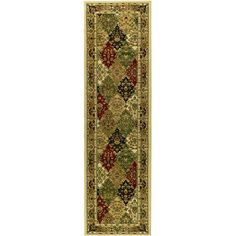 Astoria Grand Barton Green/Ivory Area Rug Rug Size: