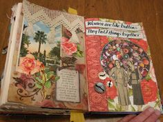 altered book journal page