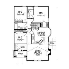 Vacation House Plan First Floor - 007D-0107 | House Plans and More