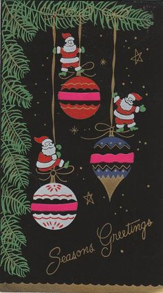 I'm very fond of black backgrounds for vintage cards and wrapping paper.