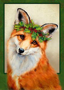 Christmas Fox Cross Stitch