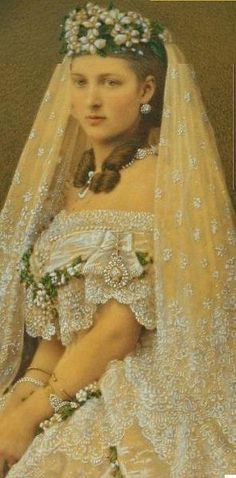 beautiful Princess Alexandra of Denmark, wed Prince Edward (later King) VII of England. She was the mother of King George V .