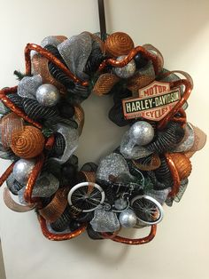 Harley Davidson wreath