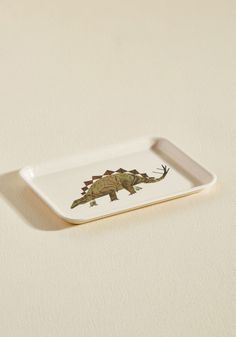 Dino Just What You Need Mini Tray - Green, Multi, Tan / Cream, Multi, Print with Animals, Novelty Print, Daytime Party, Dorm Decor, Statement, Quirky, Critters, Gals, Guys, Under $20, Hostess