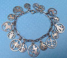 eCharmony Charm Bracelet Collection - German Cut-Out Zodiac Charms