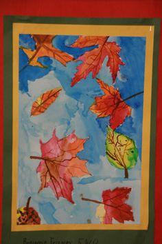 5th grade autumn watercolor.