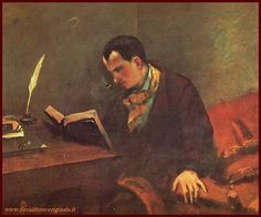 Gustave Courbet Portrait of Baudelaire painting, oil on canvas & frame; Gustave Courbet Portrait of Baudelaire is shipped worldwide, 60 days money back guarantee. Gustave Courbet, French Paintings, Reading Art, Oeuvre D'art, Les Oeuvres, Art History, Oil On Canvas, Book Art, Pointillism