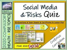 The End of Year Online safety and Social media Qualities Quiz - Fun Premium High Quality Quiz, Lesson PowerPoint on the topic of Careers suitable for or Students Can be used alongside our 'Staying safe online and offline' PSHE 2020 Curriculum, Citizenship Lessons, Plan Social, Education Degree, Education College, Piano Lessons For Beginners, Mindfulness Activities, Teaching Resources, Teaching Ideas