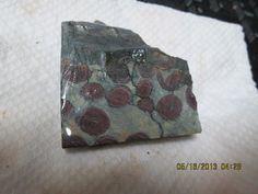 Green Mauve Yellow Orbicular Jasper Rhyolite by mnblarneystone, $8.00