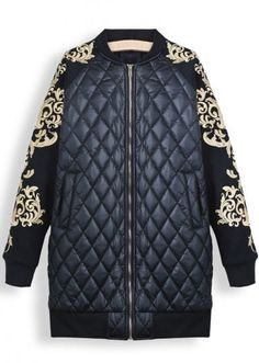 SHEIN offers Black Long Sleeve Metallic Yoke Diamond Patterned Parka & more to fit your fashionable needs. Chic Outfits, Fashion Outfits, Fashion Trends, Balenciaga Jacket, High Fashion Dresses, Leather Jacket Outfits, Winter Stil, Over 50 Womens Fashion, Mode Inspiration