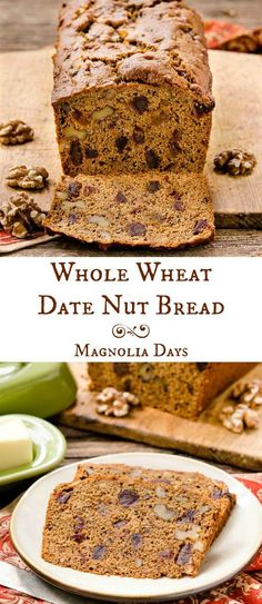 Whole Wheat Date Nut Bread is an old-fashioned quick bread loaded with ...
