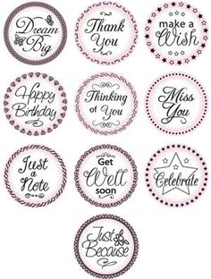 JustRite: Just a note 1 Birthday Sentiments, Birthday Tags, Card Sentiments, Birthday Sayings, Calligraphy Quotes Doodles, Jar Labels, Pantry Labels, Wire Jewelry Designs, Images Vintage