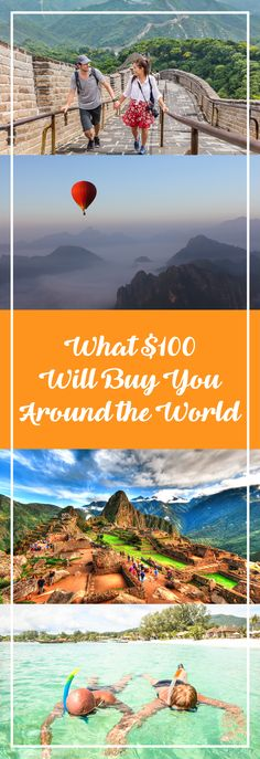 This is what $100 will  buy you around the world. Great information for budget travelers.
