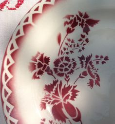Digoin Sarreguemines Annick French vintage plate