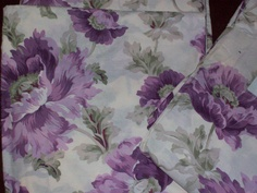 2 yards X WIDE 100% Cotton Fabric Lilac Purple Floral Print SHEETING Free Shipping. $21.99, via Etsy.