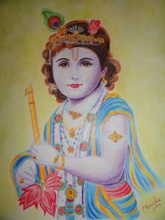 krishna - Painting by manisha chaudhary at touchtalent 4822