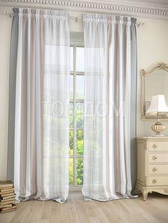 """Комплект штор """"Фория (серый)"""": купить комплект штор в интернет-магазине ТОМДОМ #томдом #curtains #шторы #interior #дизайнинтерьера"""