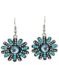 Beautiful Flower Earrings Only $12 shipped!  #FreeShipping #Flower #Earrings #GiftIdea #Beads
