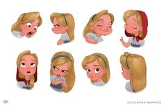 Red Riding Hood expressions by Guillermo Ramírez  Blog/Website | (http://grdrawings.blogspot.ie/) ★ || CHARACTER DESIGN REFERENCES | キャラクターデザイン  • Find more artworks at https://www.facebook.com/CharacterDesignReferences & http://www.pinterest.com/characterdesigh and learn how to draw: #concept #art #animation #anime #comics || ★