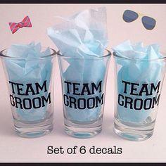 Team Groom / Bride shot glasses  Set of 6 - 1200/- + shipping