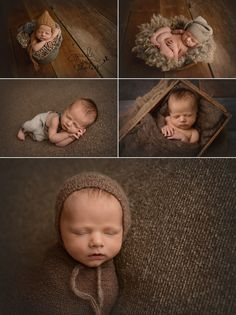 Newborn photography, newborn posing, newborn baby boy in brown