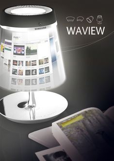 WAVIEW is a flexible smartphone that can masquerades as a lamp­shade while charging. The design explores the usage of flex­i­ble LED screen to the hilt. More­over the screen is a tad bit exag­ger­at­ed to mimic a curvy tablet.  Design­er: Li Wei