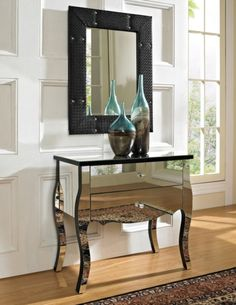 High End Mirrored Furniture With Legs : Beautiful Mirrored Furniture Style