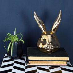 Gold Bunny Ornament - available from MiaFleur