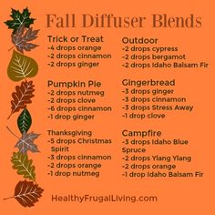 Young Living Fall Diffuser Blends with Essential Oils