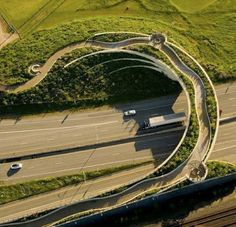 Oasis on the overpass.   A wonderful land bridge project in Vancouver Washington. It is filled with art, lush native plants, beautiful design and history lessons.