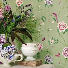 Introduce nature and florals into your scheme with Pavilion from the Richmond Hill collection, a beautifully simplified interpretation of…