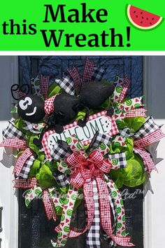 #summerwreath #wreath #antwreath The ants go marching two by two, hurrah...hurrah! Get ready to celebrate with juicy watermelon and sweet DIY summer wreath decor! This ADORABLE DIY wreath was created on a large Unique in the Creek Wreath Board, some adorable watermelon ribbon and bright green deco mesh! Learn how to easily DIY this summer wreath TODAY on our Unique in the Creek Facebook page and grab your own wreath board from UITC today!  #UITC #uniqueinthecreek #Imadethis #DIY #DIYwreath Frame Wreath, Diy Wreath, Dollar Store Christmas, Diy Store, Summer Diy, Deco Mesh Wreaths, Summer Wreath, How To Make Wreaths, Diy Flowers