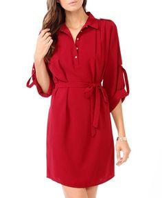 Collared Shirtdress w/ Sash   FOREVER 21 - 2025102524