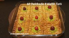10 Dakikada 9 Kişilik Tatlı Dessert for 9 people in 10 minutes recipes # Of sherbetlitatl # Easy Lebanese Recipes, Cheesecake Brownies, Yogurt, Waffles, Deserts, Cherry, Breakfast, Food, Amigurumi
