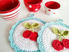This adorable potholder is the perfect touch for any vintage kitchen out there as well as any cherry lover! This potholder is quick and easy and can be made up in an evening of crafting.