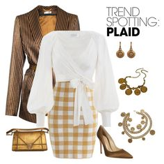 """nyfw plaid trend"" by lone-star-lady ❤ liked on Polyvore featuring JIRI KALFAR, Chicwish, Zimmermann, Gianvito Rossi, Chanel, Versace, contestentry and NYFWPlaid"