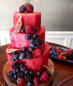 Watermelon Cake! @thelemonapron