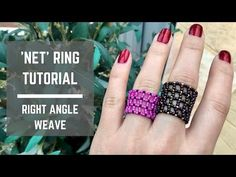 Net ring tutorial | Right Angle Weave - YouTube