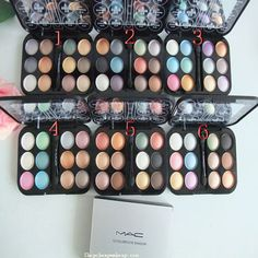 Mac 12 colors eyeshadow brush 6 styles