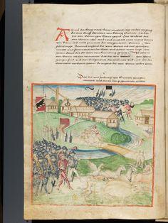 Bern, Burgerbibliothek, Mss.h.h.I.1, f. 144 – Diebold Schilling, Amtliche Berner Chronik, vol. 1