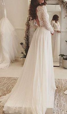 Summer Style Lace Long Sleeve Wedding Dresses 2016,