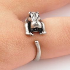 Silver Hippo Wrap Ring @Christina & Etson. OMG NO WAY. IT'S A HIPPO RING!!! <3