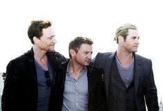 This made my week! All my fav characters in one pic! Loki, Hawkeye and Thor love each other.