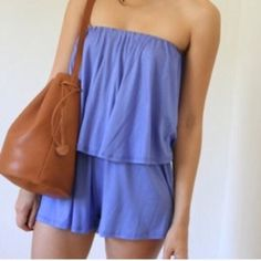 Lavender tube top romper purple strapless romper Brand new / features a elastic waistband and elastic top/ flowy and comfy / www.breathofyouth.com Nasty Gal Dresses