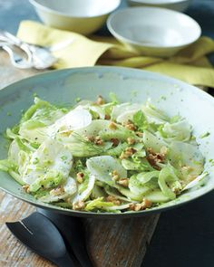 Need a nutritious side dish? Celery, Sunchoke, and Green Apple Salad with Walnuts & Mustard Vinaigrette, Wholeliving.com