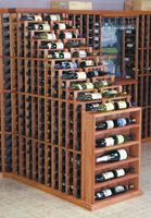 Designer Series 2 Column Rack with Display Wine Cellar Racks, Wine Rack, Wine Bottle Display, Liquor Cabinet, Waterfall, Design, Home Decor, Bottle Rack, Decoration Home
