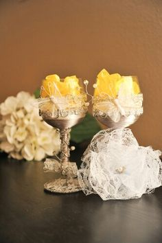 Wedding wine glass made by me for sale