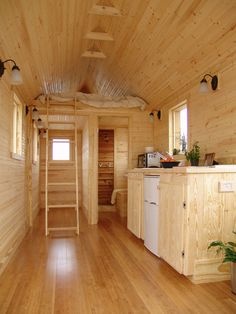 Small Home Ideas, Smallest Coolest House On Wheels: Martin House Small Tiny House, Tiny House Living, Tiny House Design, Tiny House On Wheels, Barn Living, Small Loft, Tiny House Movement, Mini Loft, Building A Tiny House