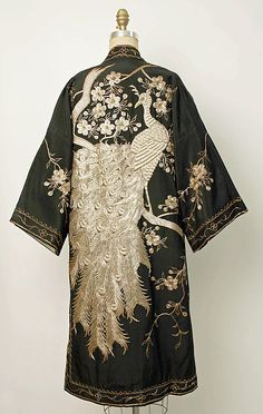 Evening coat, 1920s–30s, Japanese. Medium: silk, metallic thread | The Metropoitan Museum of Art